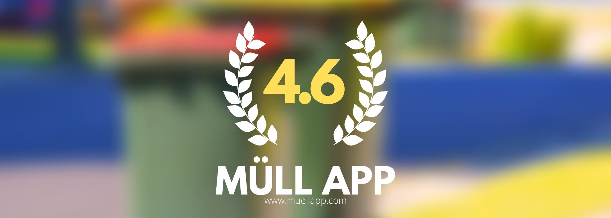 Die Müll App hat ein unglaubliches Rating von 4.6 im App Store